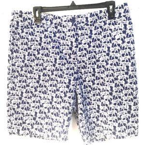 Talbots The Perfect Shorts Elephant Print Size 12P